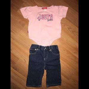Levi Jeans Baby Matching Set